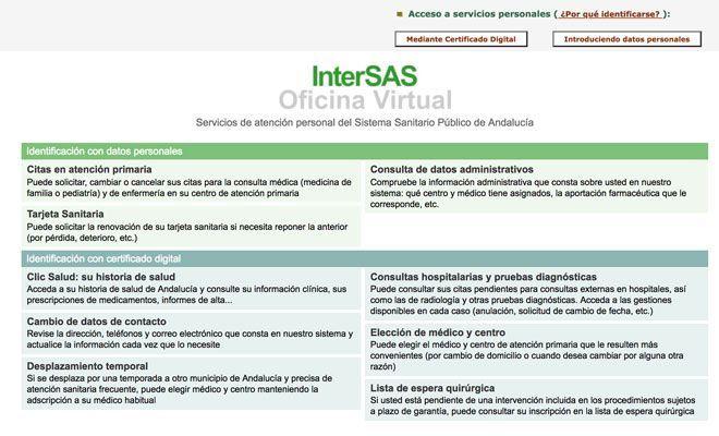 cita previa SAS internet