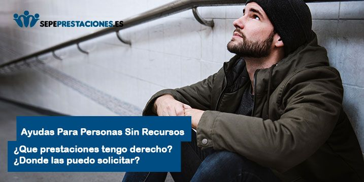 Ayudas Sociales para personas sin recursos