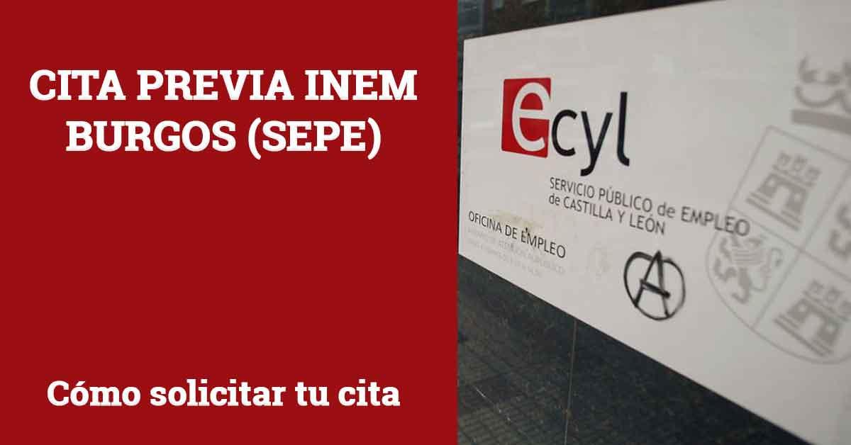 Cita Previa INEM Burgos SEPE