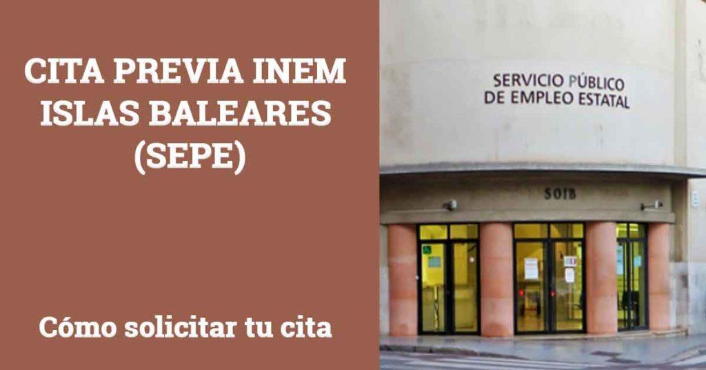 Cita Previa INEM Islas Baleares SEPE