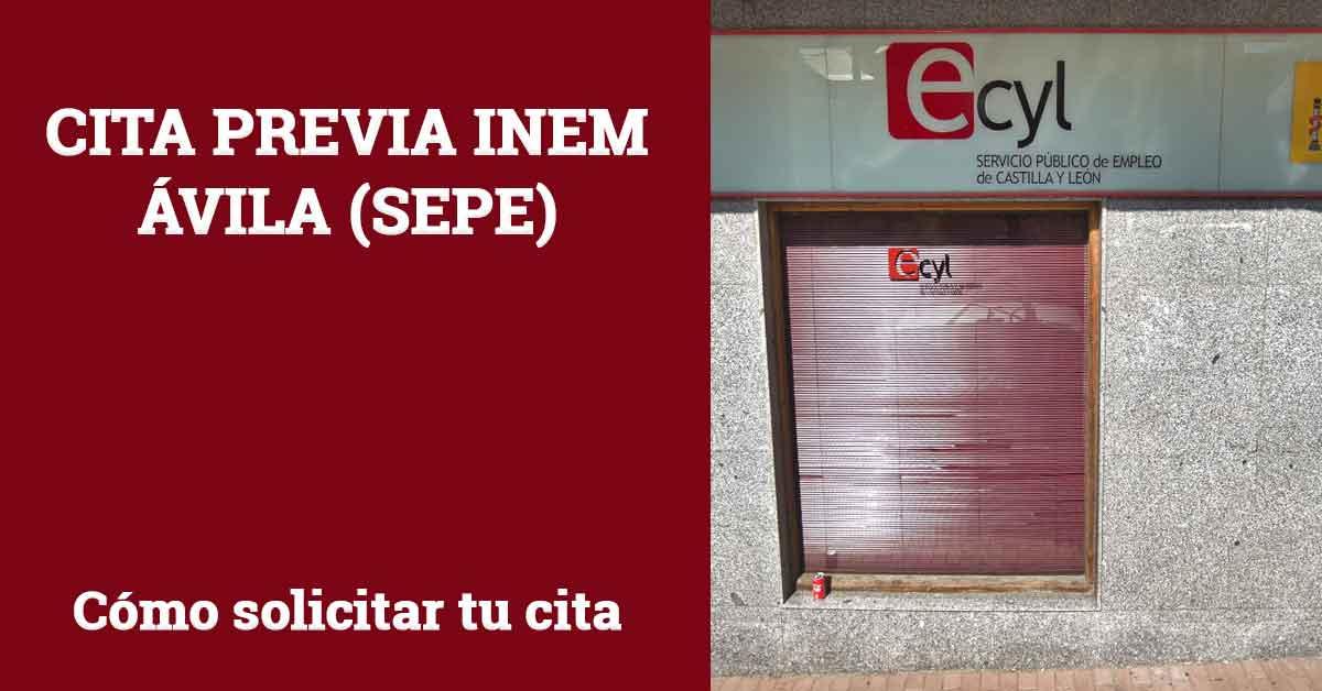 Cita Previa INEM Ávila SEPE