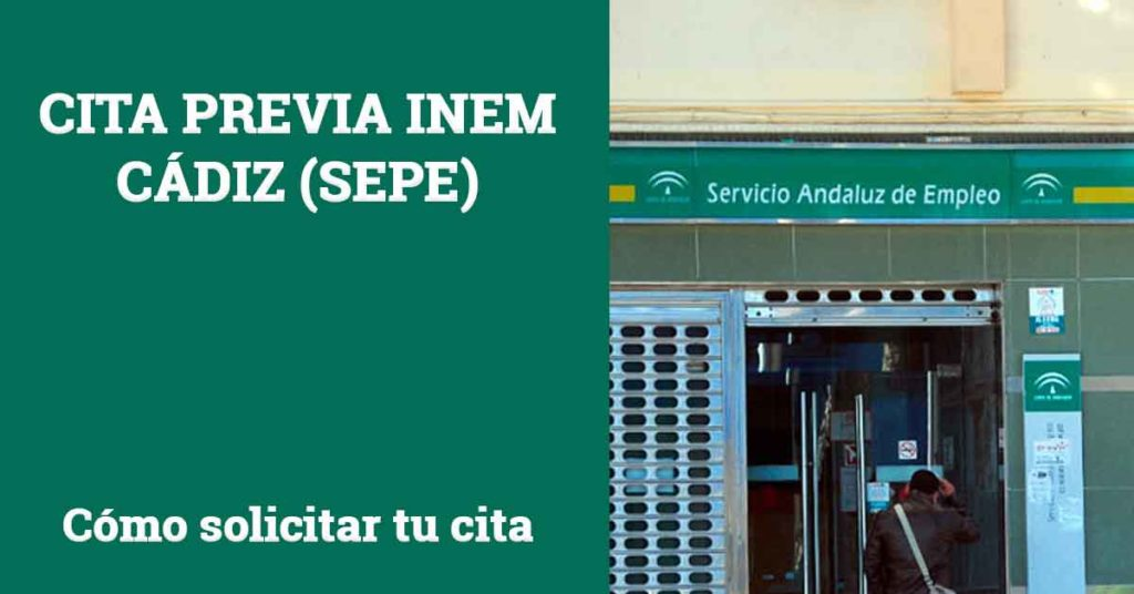Cita previa INEM Cádiz SEPE