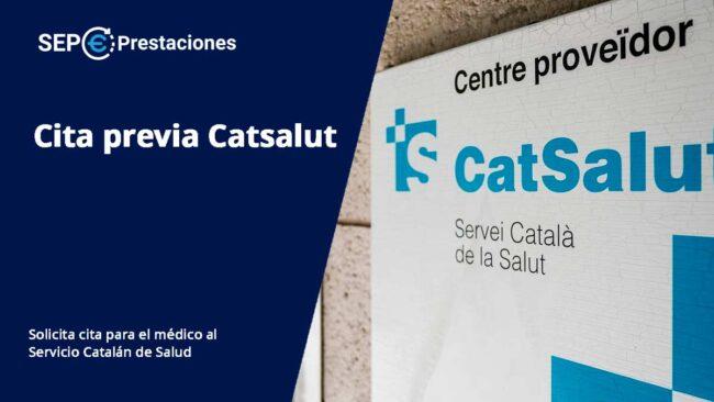 cita previa Catsalut. Servicio Catalán de Salud