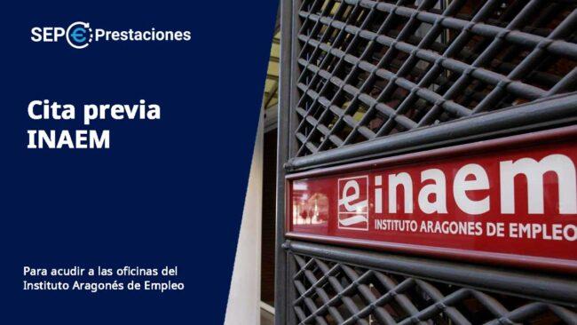 cita previa Instituto Aragonés de Empleo (INAEM)
