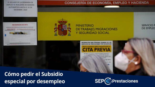 como pedir el subsidio especial por desempleo